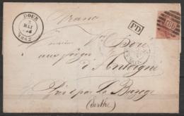 L. (borderau De Livraison Des Charbonnages De ELOUGES) Affr. N°12 P186 Càd DOUR /3 MAI 1862 Pour ANTOIGNE (Sarthe) - [PD - 1858-1862 Médaillons (9/12)