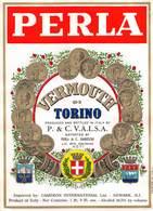 "07752 "" VERMOUTH DI TORINO - P. & C. V.A.L.S.A. ASTI - IMPORTED CAMERON INTERNATIONAL - NEWARK - N.J."" ETICH. ORIG. - Etichette"