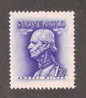 Slovakia 1943,Andrej Hlinka,Scott # 83,XF MNH** (MB-9) - Slovakia