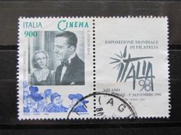 *ITALIA* USATO 1998 - ESP MOND GIORNATA CINEMA CAMERINI - SASSONE 2386 - LUSSO/FIOR DI STAMPA - 1991-00: Usati