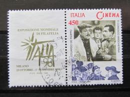 *ITALIA* USATO 1998 - ESP MOND GIORNATA CINEMA DE FILIPPO - SASSONE 2384 - LUSSO/FIOR DI STAMPA - 1991-00: Usati