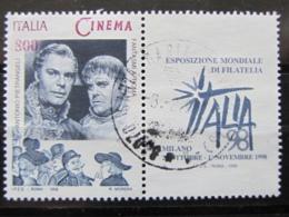 *ITALIA* USATO 1998 - ESP MOND GIORNATA CINEMA PIETRANGELI - SASSONE 2385 - LUSSO/FIOR DI STAMPA - 1991-00: Usati