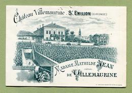 """SAINT-EMILION  : """" CHATEAU VILLEMAURINE """"  Petit Dépliant Du XIXème - France"""