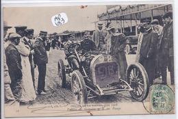 CIRCUIT DE LA SARTHE 1906- VOITURE DE GREGOIRE AU PESAGE - Le Mans