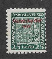 Slovakia 1939, 25h Overprinted Scott # 5,VF Mint Hinged OG,See Pics ! (MB-9) - Slovakia