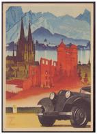 Dt- Reich (007692) Werbepostkarte, Auf Deutschen Strassen, Blanco Gestempelt Wien Am 20.45.1938 - Deutschland