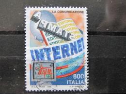 *ITALIA* USATO 1998 - ESP MOND GIORNATA TELECOMUNICAZIONE - SASSONE 2387 - LUSSO/FIOR DI STAMPA - 1991-00: Usati