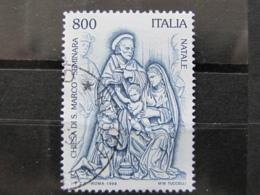 *ITALIA* USATO 1998 - NATALE CHIESA SAN MARCO SEMINARA - SASSONE 2389 - LUSSO/FIOR DI STAMPA - 1991-00: Usati