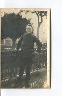 LIBAN - CARTE PHOTO MILITARIA GUERRE - Soldat Allemand  -  Deutscher Soldat  à Beyrouth En Déc 1918 - Guerre 1914-18