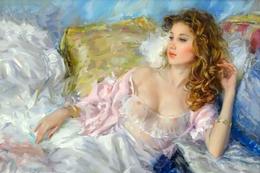 40.263 Postcard Modern Rare New Konstantin Razumov Beautiful Charming Girl - People