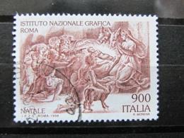 *ITALIA* USATO 1998 - NATALE ISTITUTO NAZIONALE GRAFICA - SASSONE 2390 - LUSSO/FIOR DI STAMPA - 1991-00: Usati