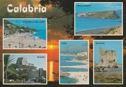 CARTOLINA: CALABRIA (VEDUTINE) - F/G - COLORI - VIAGGIATA  - LEGGI - Cagliari