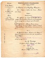 Ministère De La Justice Monsieur Raoul Péret Et Le Président De La République - Historische Dokumente