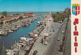 CARTOLINA: RIMINI - PORTO CANALE (MOVIMENTATA) - F/G - COLORI - VIAGGIATA  - LEGGI - Rimini