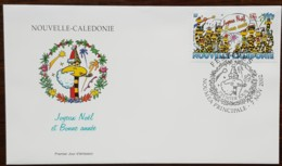 Nouvelle-Calédonie - FDC 2002 - YT N°882 - Festives / Joyeux Noël Et Bonne Année - FDC