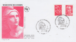 Enveloppe  FDC  1er  Jour   FRANCE    MARIANNE  De  GANDON   2006 - 2000-2009