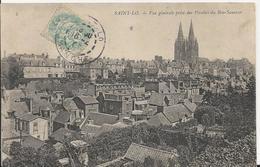 Carte Postale Ancienne De Saint Lo Vue Générale Prise Des Pérelles Du Bon Sauveur - Saint Lo