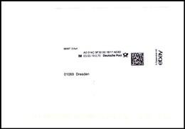 Bund / Germany: 'Ebay-Barfreimachung, 2019' / 'Ebay 2D Meter Mail Cancel' - BRD
