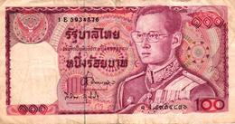 BILLET DE 100 BHATS THAILANDE - Thailand