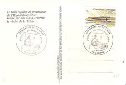Doubs :- ORNANS CENTENAIRE DE LA LIGNE L'HOPTAL DU GROS BOIS LODS (thème Ferroviaire) - Cachets Commémoratifs