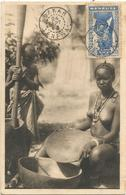 SENEGAL 2F25 FFEMME SEINS NUS CARTE MAXIMUM DAKAR 24 SEPT 1943 - Lettres & Documents