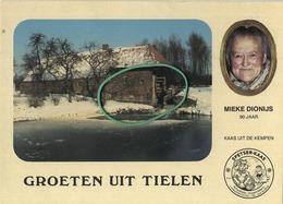 Tielen :  Groeten Uit  :  Mieke Dionijs    :  De Watermolen  (  Formaat 15 X 10.5  ) - België