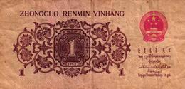 BILLET CHINA - ZHONGGUO RENMIN YINHANG 1 Y1 JIAO - Chine