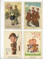 HUMOR : Lot De 12 Cartes  -  12 Cards  (  MILITARIA ) - Humour