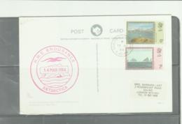 FALKLAND DEPS - 1984- SEAL POSTCARD TO ENGLAND , HMS ENDURANCE CACHET - Falkland Islands