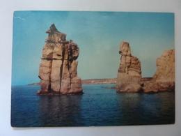 """Cartolina Viaggiata """"CARLOFORTE Le Colonne""""  1982 - Italia"""
