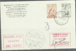 ARGENTINA  -  1970  HMS ENDURANCE  VISITTO BUENOS AIRES SPECIAL  CACHET & POSTMARK - Argentina