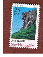 STATI UNITI (U.S.A.) - SG 2357 - 1988  NEW HAMPSHIRE STATEHOOD BICENTENARY  - USED - Stati Uniti