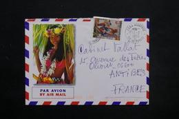 """POLYNÉSIE - Oblitération """" FAAA Aéroport Ile De Tahiti """" Sur Enveloppe Touristique En 1999 Pour Antibes - L 25453 - Lettres & Documents"""