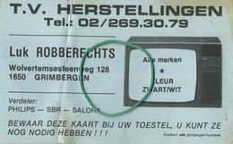 Grimbergen :  Reclame  :  TV Herstellingen  Luk Robberechts - Grimbergen