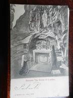 16579) IMPERIA BUSSANA LA GROTTA DI LOUREDES SANTUARIO VIAGGIATA 1908 - Imperia