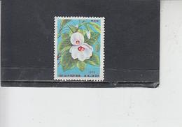 COREA DEL NORD 1974 - Yvert  1151 - Fiori - Corea Del Nord
