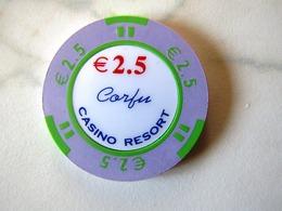 JETON    CASINO   ILE DE CORFOU    2,5 EUROS - Casino