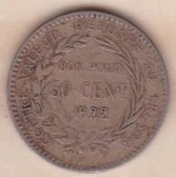 COLONIE DE LA MARTINIQUE . BON POUR 50 CENTIMES 1922 - Colonies