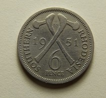 Southern Rhodesia 6 Pence 1951 - Rhodesien