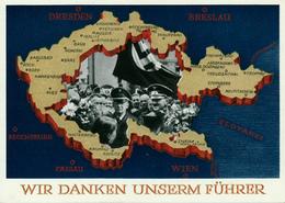 DR - 1938 , Abstimmung Im Sudetenland - Allemagne