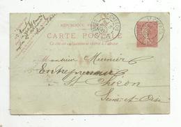 Entier Postal Sur Carte Postale , 10 C, ST CHERON , SAINT , Seine Et Oise ,1906 - Entiers Postaux