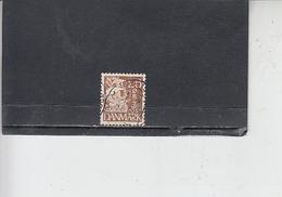 DANIMARCA  1933-4 - Unificato  217A - Caravella - 1913-47 (Christian X)