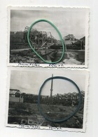 Tessenderloo -  Tessenderlo  :   1942  (  2  Oude Foto's  8.5  X 6 Cm  )  Oorlog  -  Guerre - Lieux