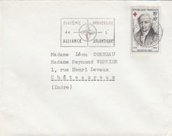 SEUL SUR LETTRE. 1959. N° 1227 CROIX ROUGE 1959 - Postmark Collection (Covers)
