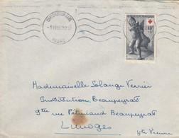 SEUL SUR LETTRE. . N° 1049 CROIX ROUGE 1955 - 1921-1960: Moderne