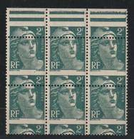 YT 713 ** 2F Vert Marianne De Gandon,  Bloc De 6 TP Bdf, Piquage à Cheval, R - 1945-54 Marianne De Gandon
