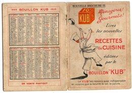 PETIT LIVRET BOUILLON KUB       RECETTES DE CUISINE 1923 - Gastronomie