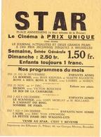 Ciné  Bioscoop Programma Programme Cinema STAR - Bruxelles - Publicité Cinématographique