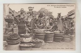 CPSM AFRIQUE OCCIDENTALE FRANCAISE (Mauritanie-Sénégal-Mali-Guinée-Cte D'Ivoire....)ETHNOGRAPHIE - Un Marché Indigène - Mali