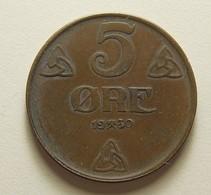 Norway 5 Ore 1930 - Norvège